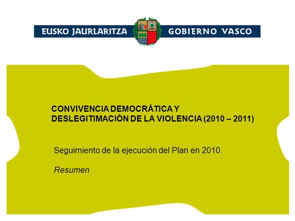 1 Seguimiento de la ejecución del Plan en 2010.