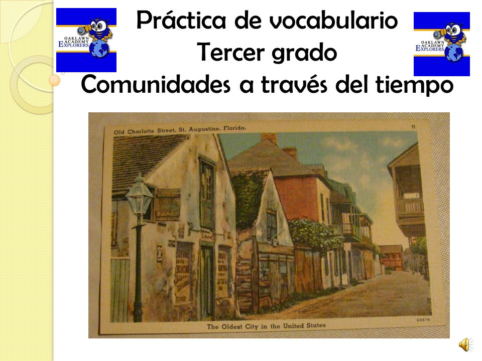 Práctica de vocabulario Tercer grado Comunidades a través del tiempo