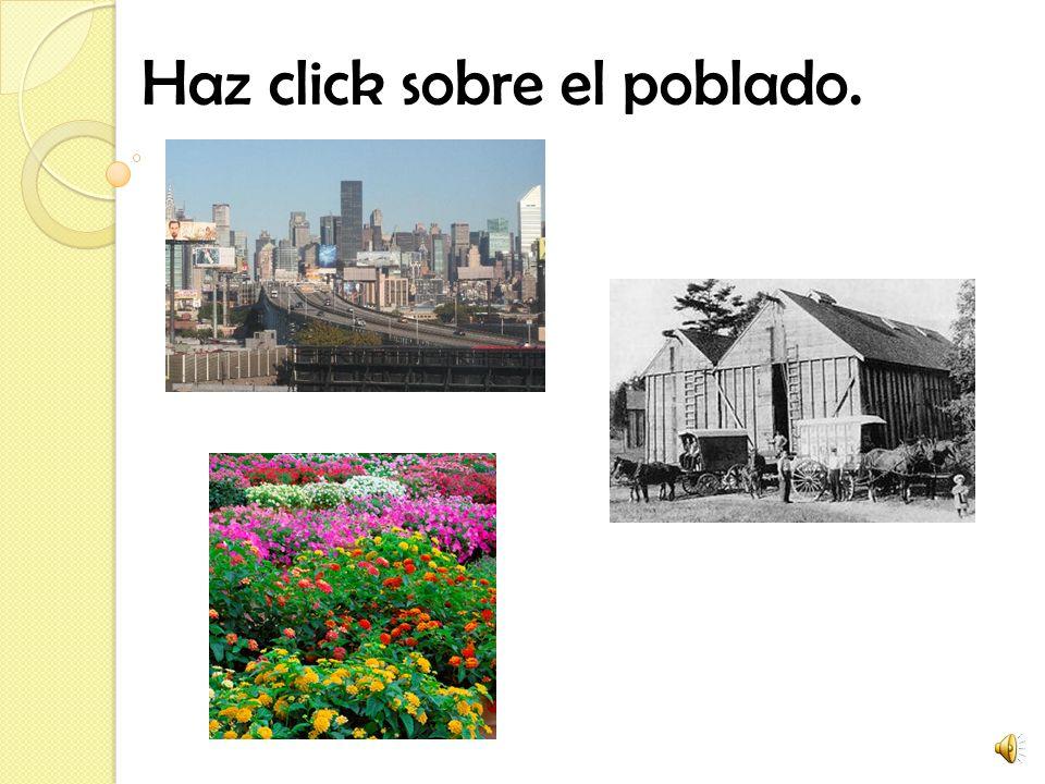 Haz click sobre el poblado.