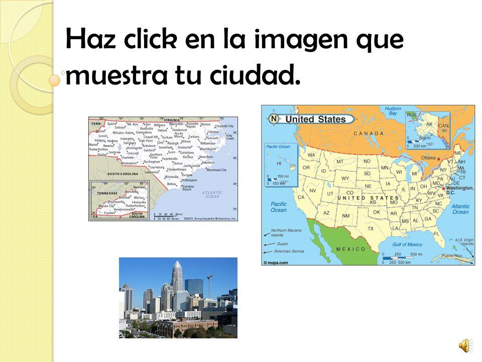 Haz click en la imagen que muestra tu ciudad.