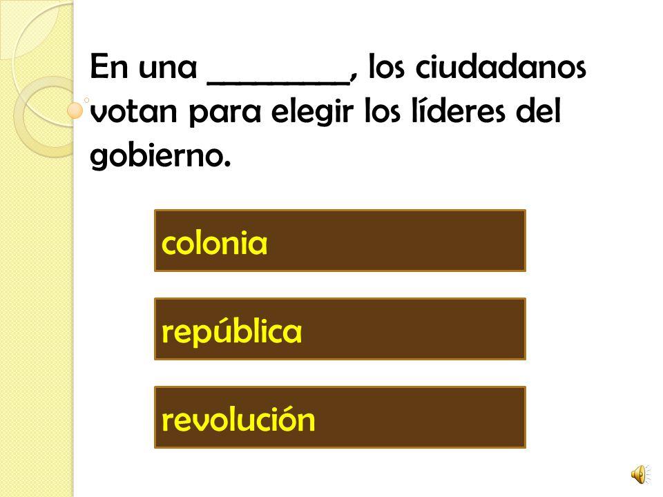 En una _________, los ciudadanos votan para elegir los líderes del gobierno.