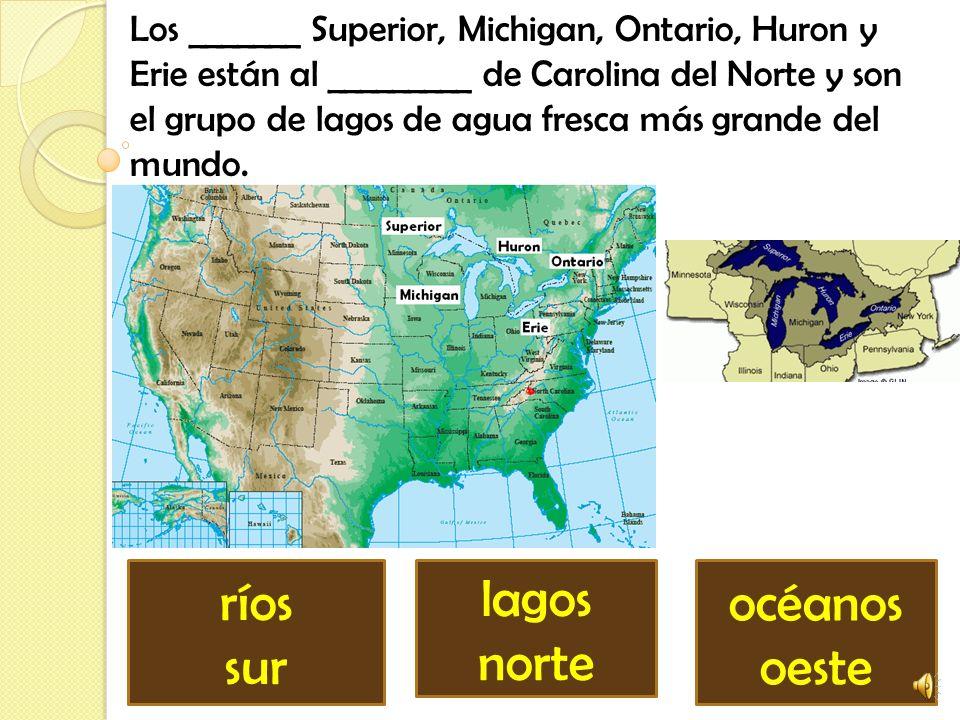 La Gran Cuenca es el ________ más grande de los Estados Unidos y está ubicado al ________ de Carolina del Norte. isla sudoeste llanura noroeste desier