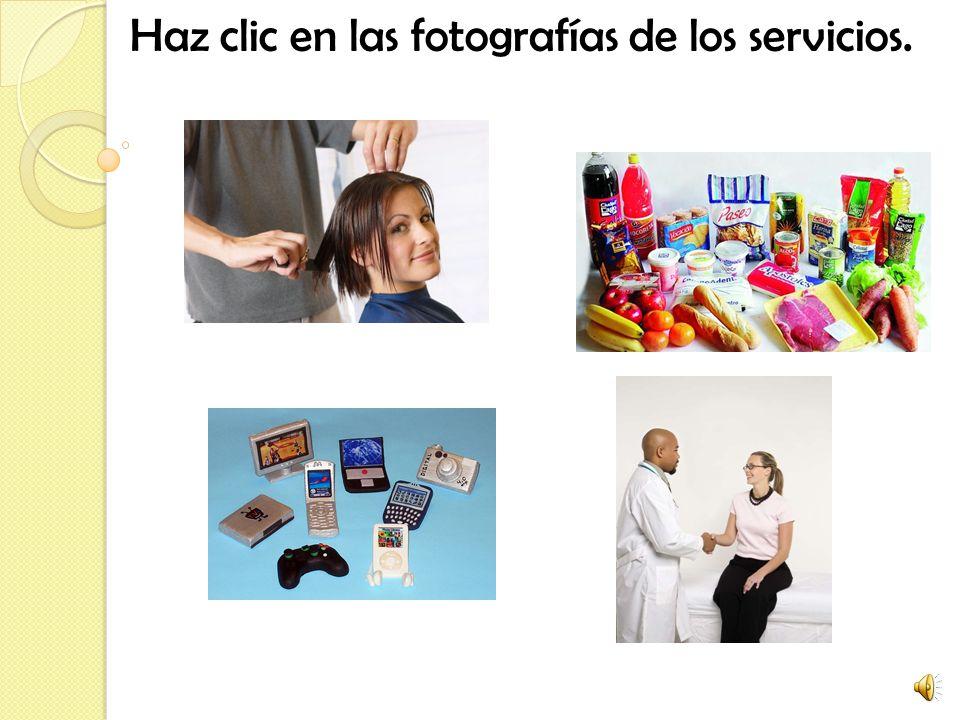 Haz clic en las fotografías de los servicios.