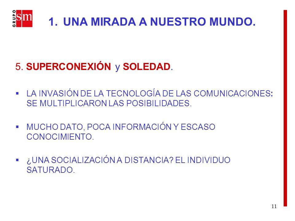 11 5. SUPERCONEXIÓN y SOLEDAD.