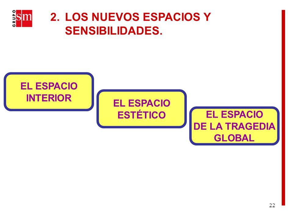 22 2. LOS NUEVOS ESPACIOS Y SENSIBILIDADES.