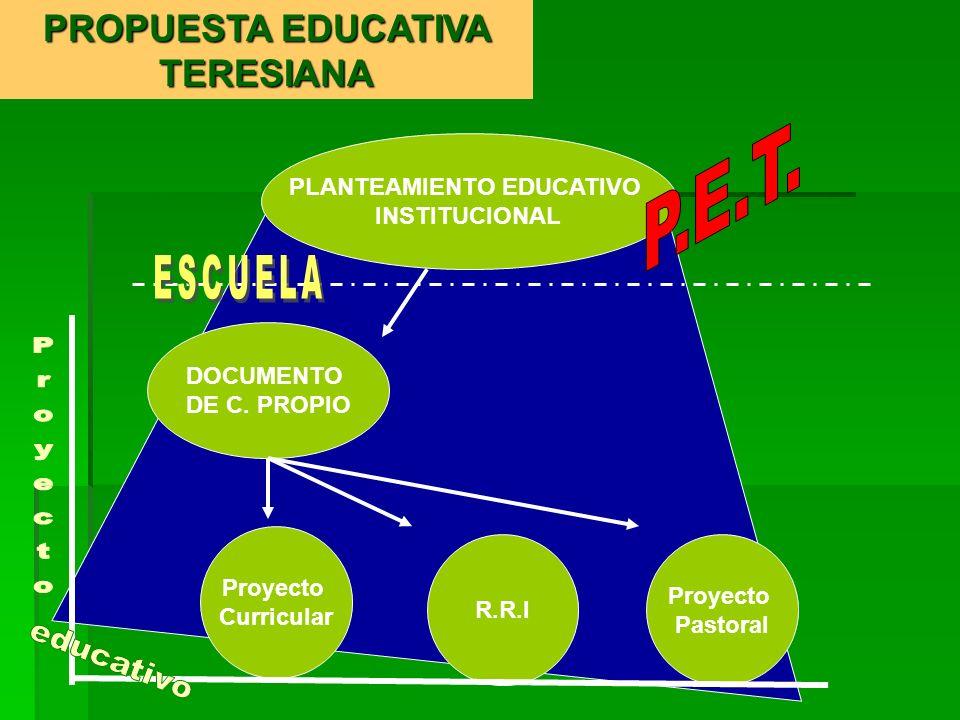 Es un documento marco; es decir, meta educativa.