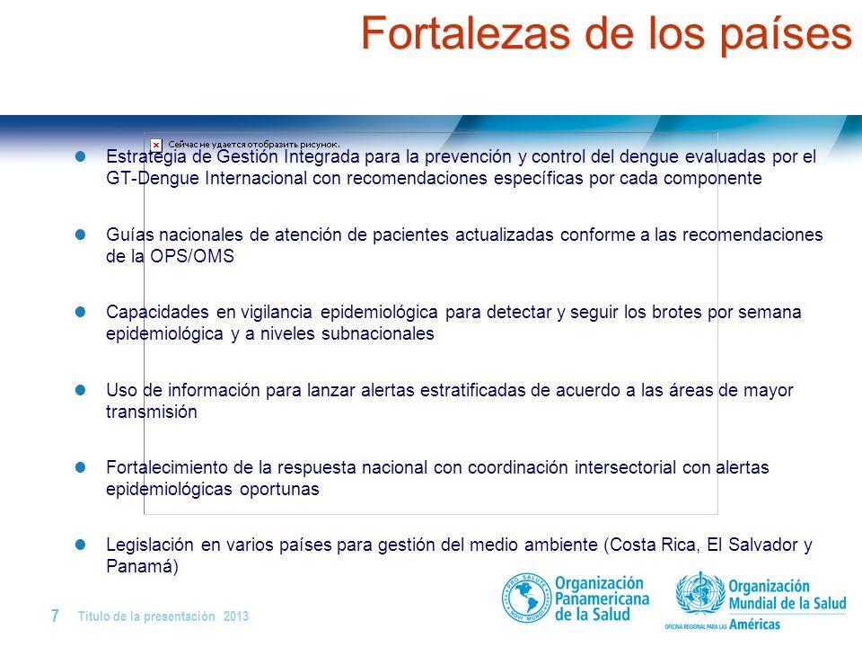 Título de la presentación | 2013 6 | Dengue grave y letalidad por dengue en Centro América y R. Dominicana Importancia de la vigilancia integrada para