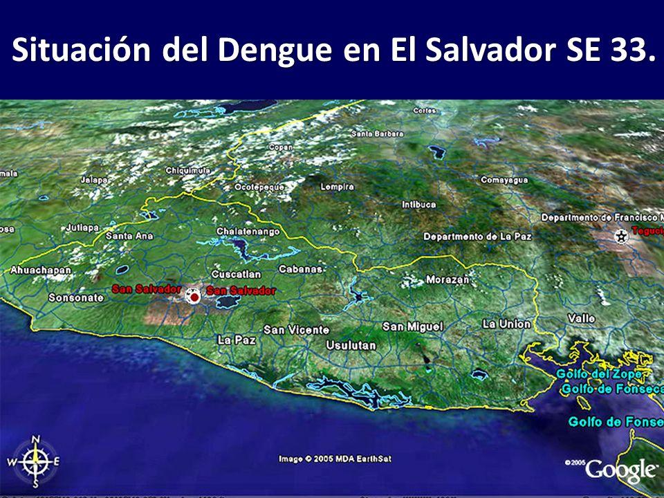 Situación del Dengue en El Salvador SE 33.