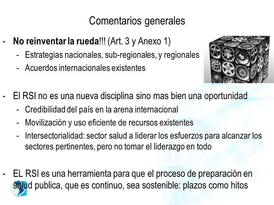 Comentarios generales - No reinventar la rueda !!.