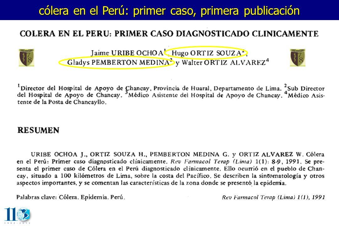 cólera en el Perú: primer caso, primera publicación