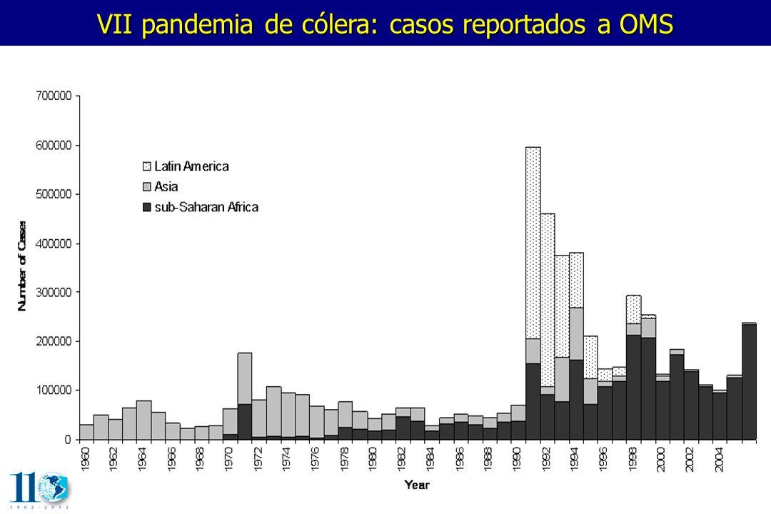 VII pandemia de cólera: letalidad reportada a OMS