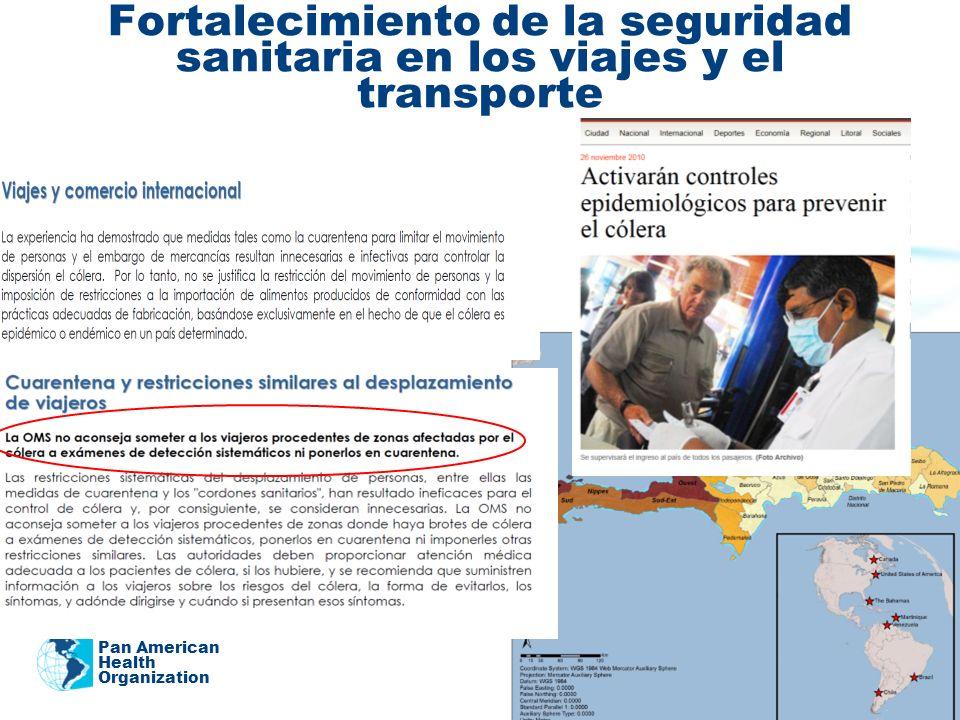 Fortalecimiento de la seguridad sanitaria en los viajes y el transporte Pan American Health Organization