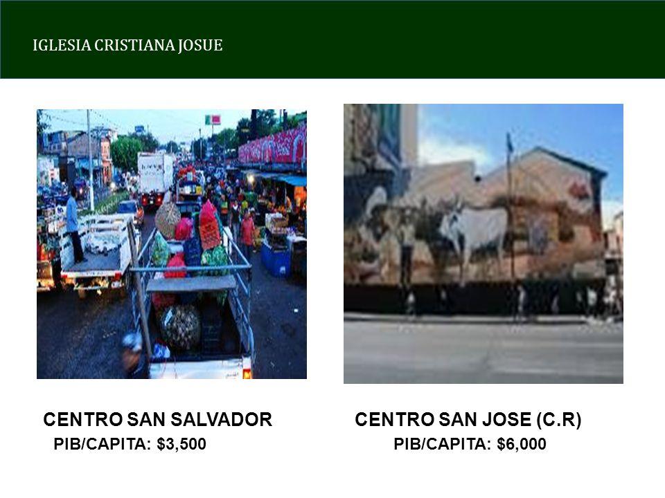 IGLESIA CRISTIANA JOSUE CENTRO SAN SALVADORCENTRO SAN JOSE (C.R) PIB/CAPITA: $3,500PIB/CAPITA: $6,000