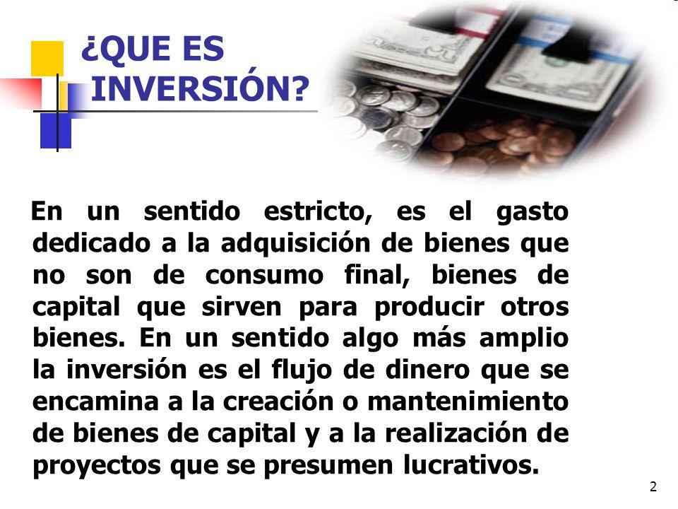 3 Conceptualmente la inversión se diferencia tanto del consumo como del ahorro: 1.