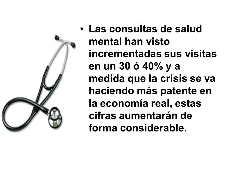 Las consultas de salud mental han visto incrementadas sus visitas en un 30 ó 40% y a medida que la crisis se va haciendo más patente en la economía re