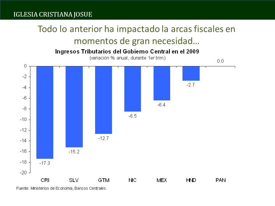IGLESIA CRISTIANA JOSUE Todo lo anterior ha impactado la arcas fiscales en momentos de gran necesidad…