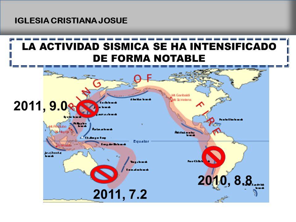 IGLESIA CRISTIANA JOSUE 2010, 8.8 2011, 7.2 2011, 9.0