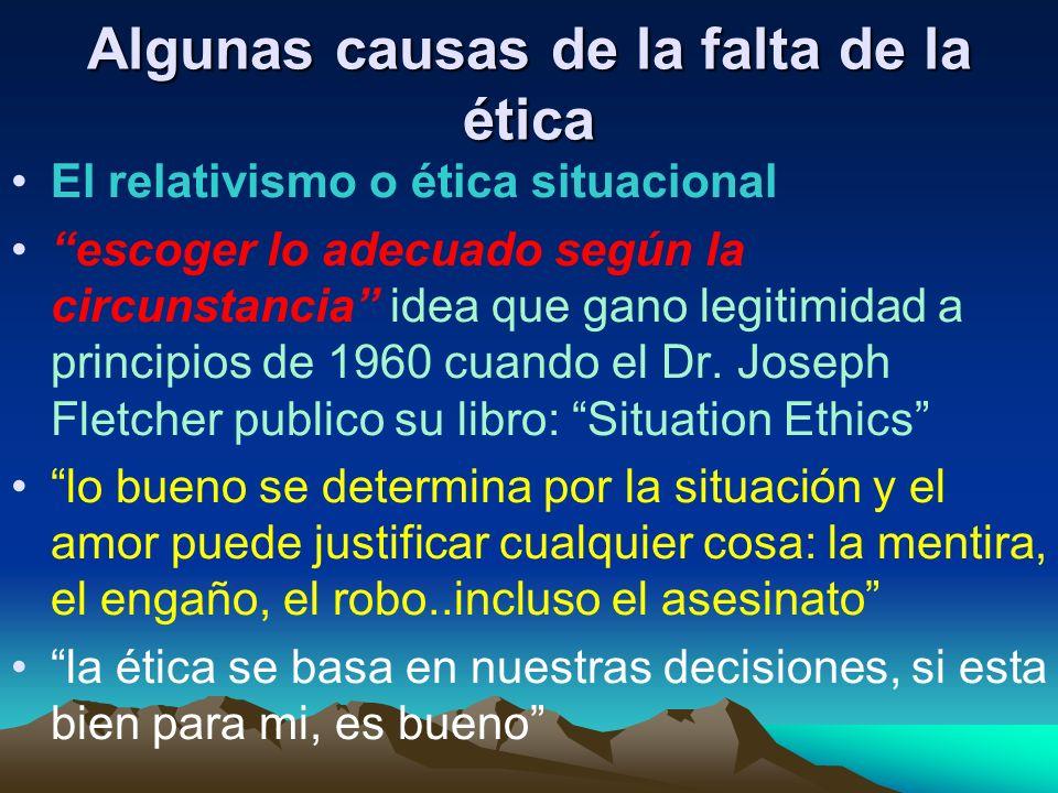 John Maxwell dijo: El comportamiento Ético quizás resulte una perdida a corto plazo, no obstante, a largo plazo la gente siempre pierde cuando vive sin ética