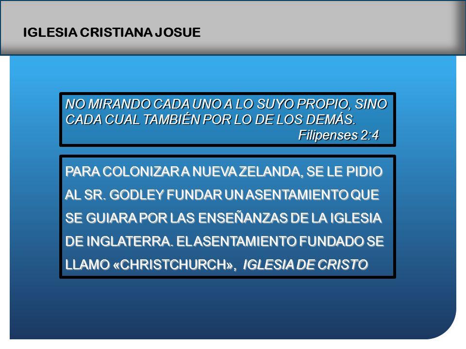 IGLESIA CRISTIANA JOSUE NO MIRANDO CADA UNO A LO SUYO PROPIO, SINO CADA CUAL TAMBIÉN POR LO DE LOS DEMÁS.