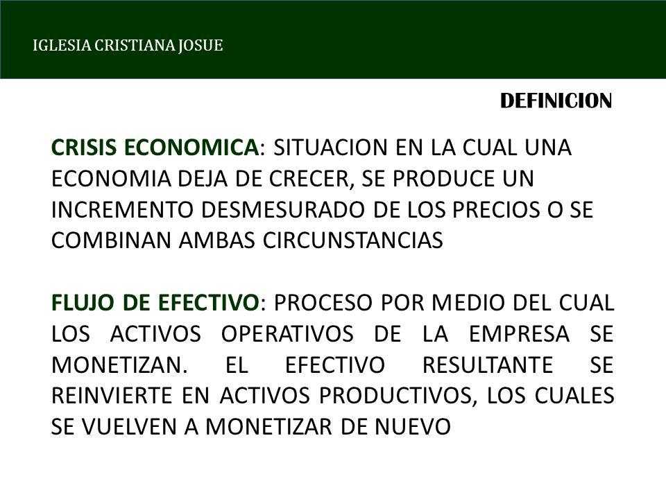 IGLESIA CRISTIANA JOSUE EL CICLO FLUJO DE EFECTIVO Mostrando los últimos datos disponibles.