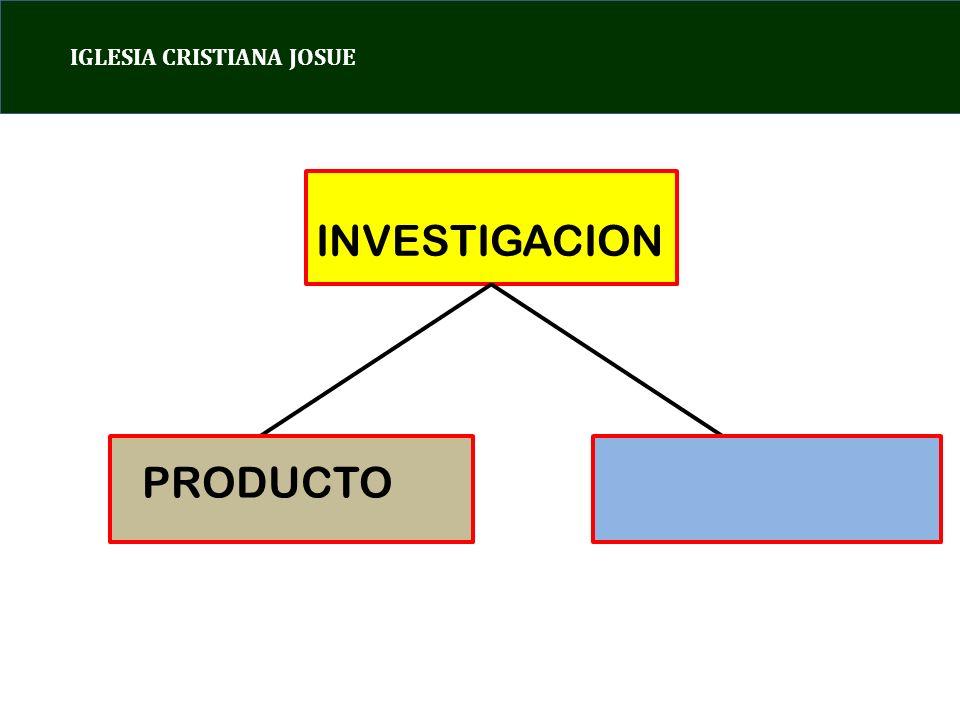 IGLESIA CRISTIANA JOSUE INVESTIGACION PRODUCTO