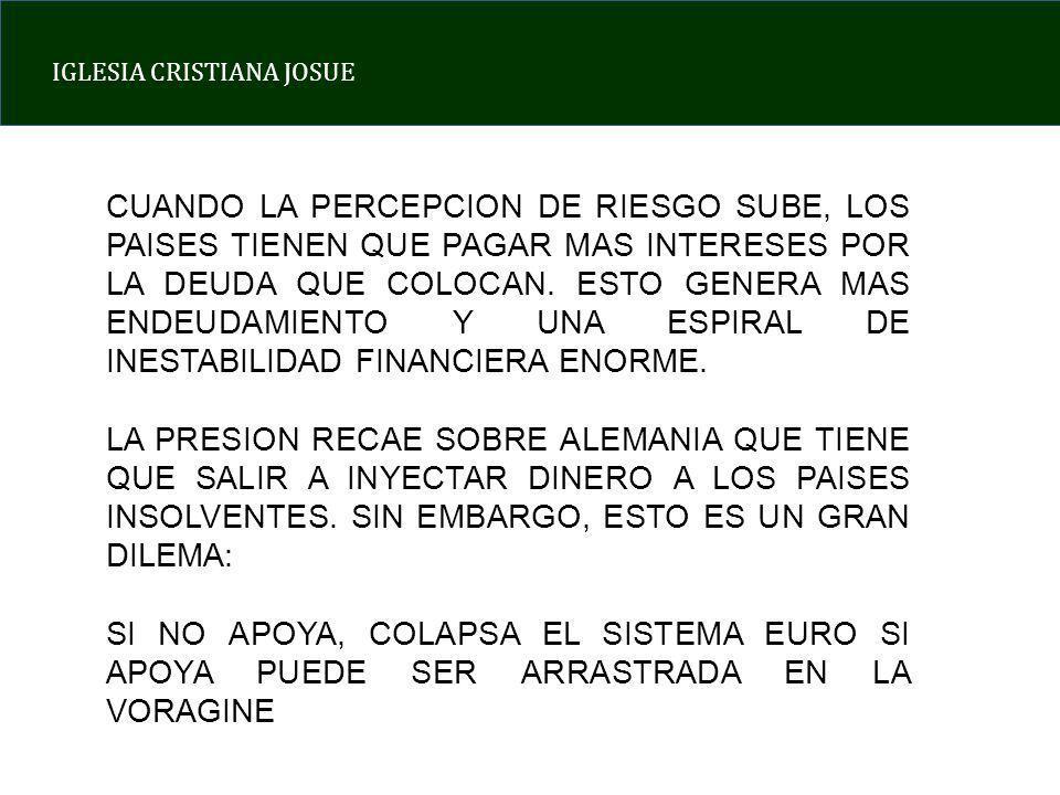 IGLESIA CRISTIANA JOSUE SITUACION MACROECONOMICA ACTUAL CAUSA 1: ABUSO DEL ESTADO DEL BIENESTAR CAUSA 2: DESBORDE DEL ENDEUDAMIENTO CAUSA 3: PERDIDA DE CONTROL SOBRE LA CLASE POLITICA COMUN DENOMINADOR: HUMANISMO LA GRAN LECCION ESPIRITUAL