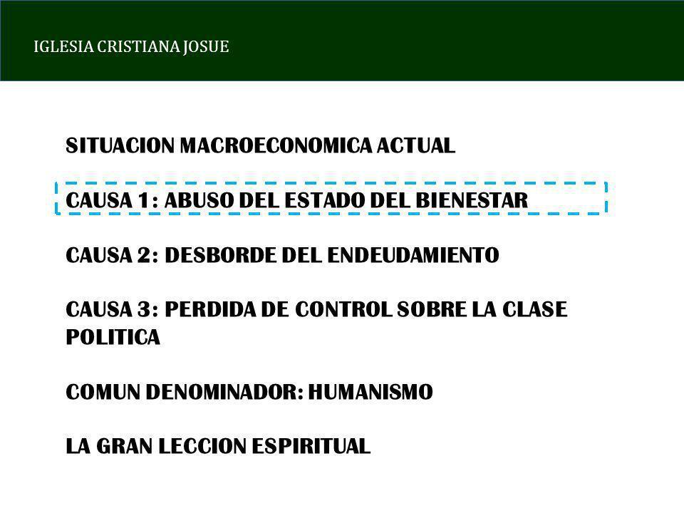 IGLESIA CRISTIANA JOSUE CUANDO UNA SOCIEDAD ENTRONIZA AL SER HUMANO POR ENCIMA DE DIOS, LOS HABITANTES SE VUELVEN EGOISTAS, EDONISTAS Y FALTOS DE SABIDURIA LO ANTERIOR CONLLEVA A UN DETERIORO DE LA PRODUCTIVIDAD, INCREMENTO DEL ENDEUDAMIENTO Y MUCHA CORRUPCION LA CLASE POLITICA SIEMPRE PREDICARA «EL HUMANISMO» PUES ES LA FORMA DE AFERRARSE AL PODER.