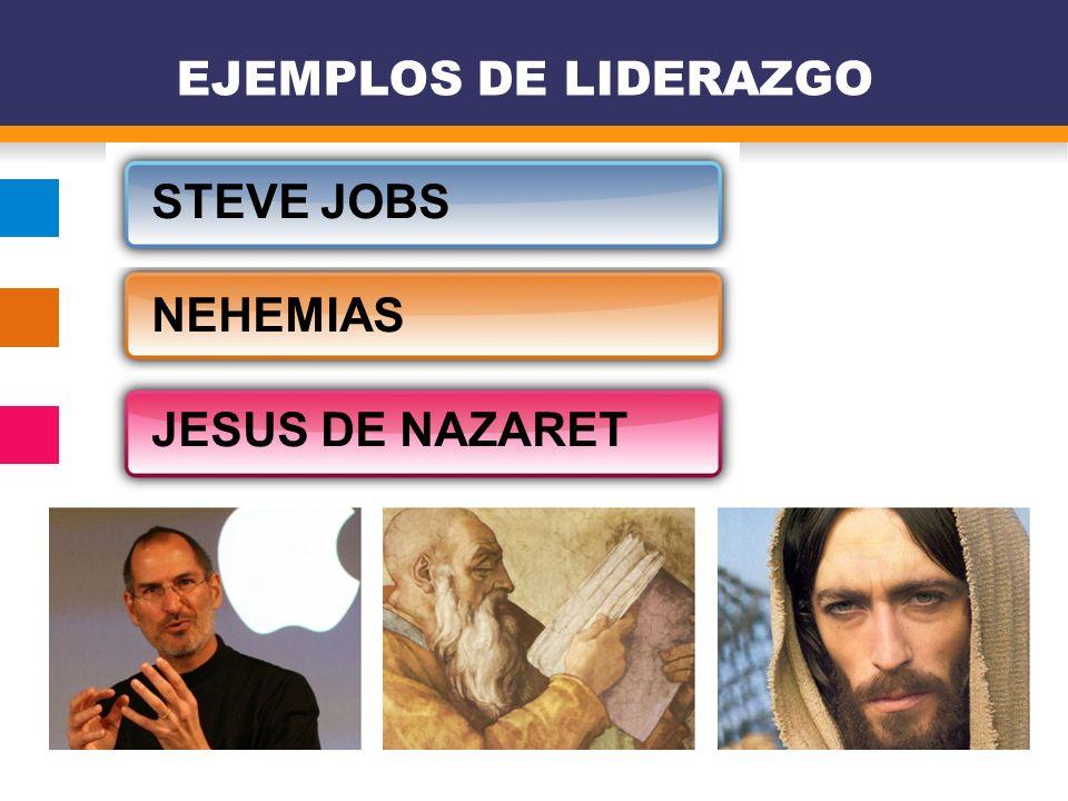 STEVE JOBS NEHEMIAS JESUS DE NAZARET EJEMPLOS DE LIDERAZGO