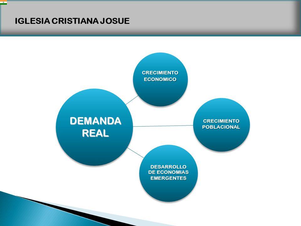 IGLESIA CRISTIANA JOSUE CRECIMIENTO ECONOMICO CRECIMIENTO POBLACIONAL DESARROLLO DE ECONOMIAS EMERGENTES DEMANDAREAL