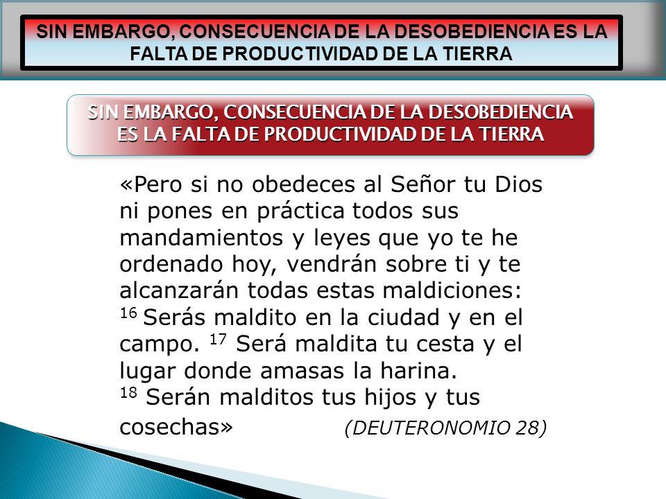 IGLESIA CRISTIANA JOSUE «Pero si no obedeces al Señor tu Dios ni pones en práctica todos sus mandamientos y leyes que yo te he ordenado hoy, vendrán s