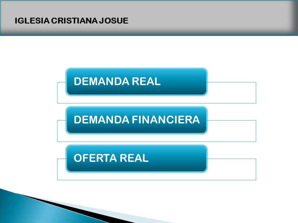 IGLESIA CRISTIANA JOSUE DEMANDA REALDEMANDA FINANCIERAOFERTA REAL