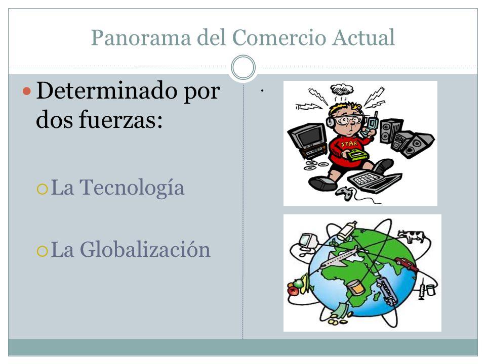 Panorama del Comercio Actual Determinado por dos fuerzas: La Tecnología La Globalización.