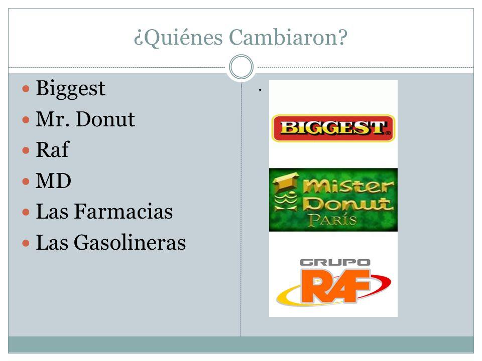¿Quiénes Cambiaron? Biggest Mr. Donut Raf MD Las Farmacias Las Gasolineras.