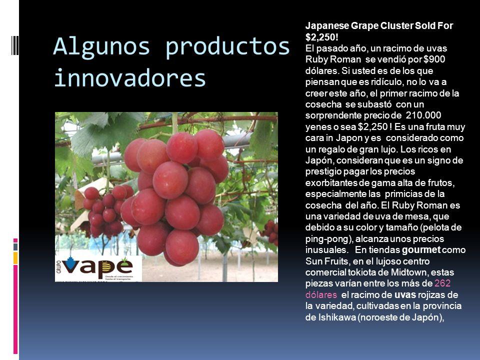 Algunos productos innovadores Japanese Grape Cluster Sold For $2,250! El pasado año, un racimo de uvas Ruby Roman se vendió por $900 dólares. Si usted