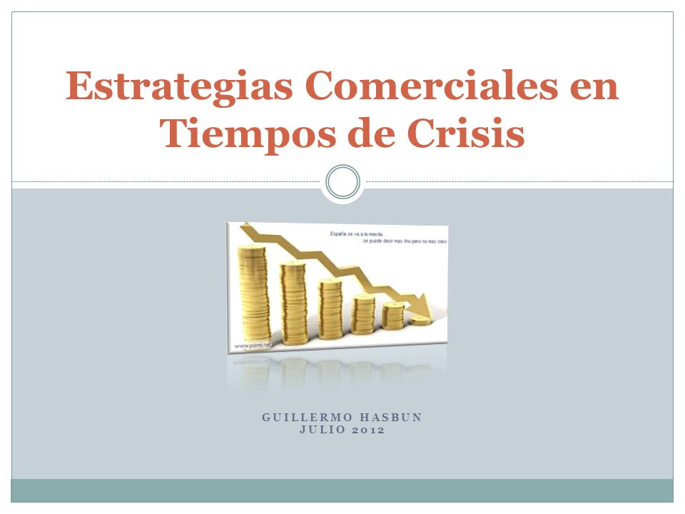 Características del Mercado en Crisis Altos niveles de inventarios Presión por vender más barato La oferta de productos excede vertiginosamente la demanda.