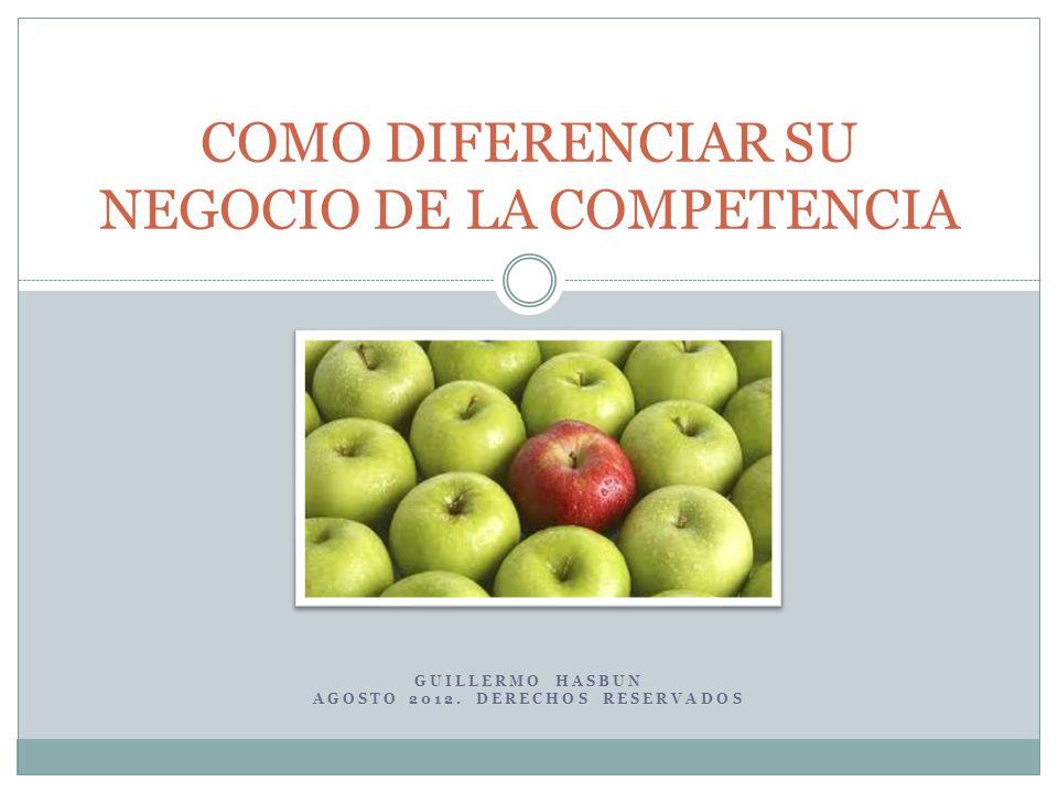 La Necesidad de la Diferenciación La oferta de productos supera la demanda.