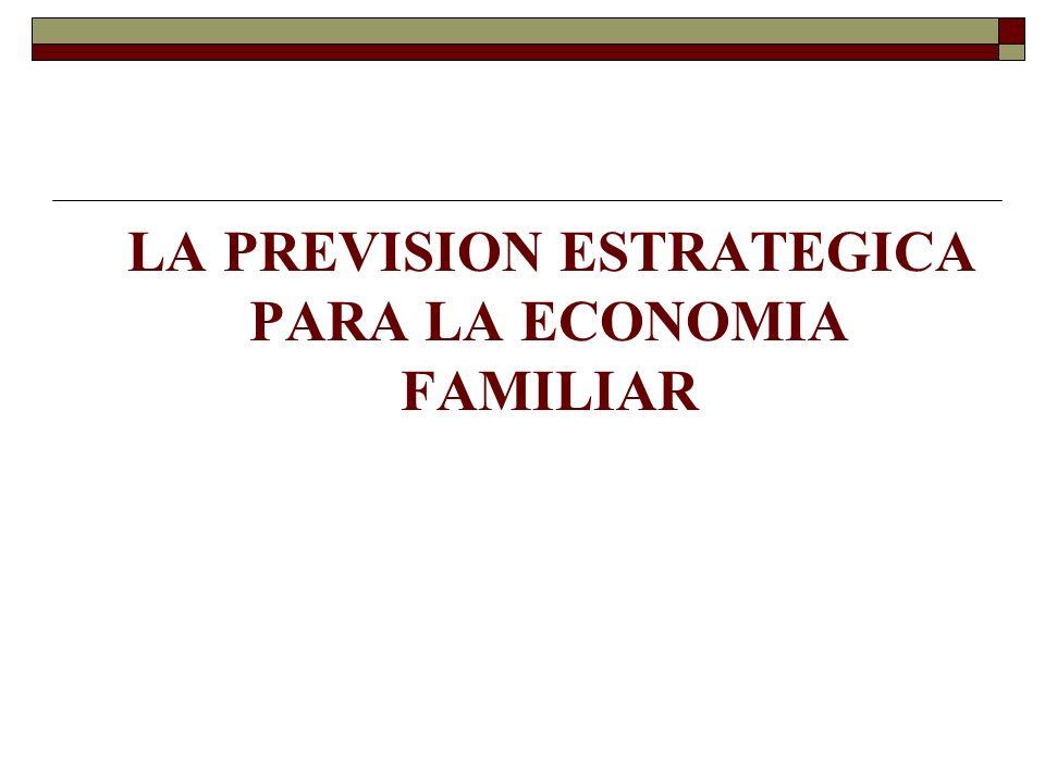 LA PREVISION ESTRATEGICA PARA LA ECONOMIA FAMILIAR