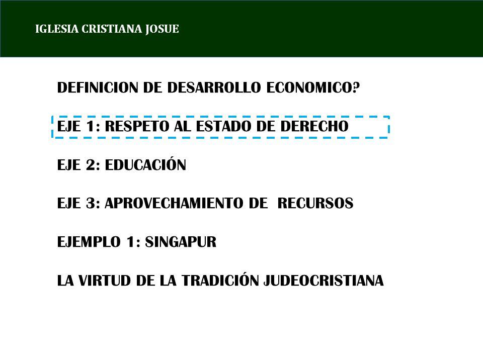 IGLESIA CRISTIANA JOSUE DEFINICION DE DESARROLLO ECONOMICO.