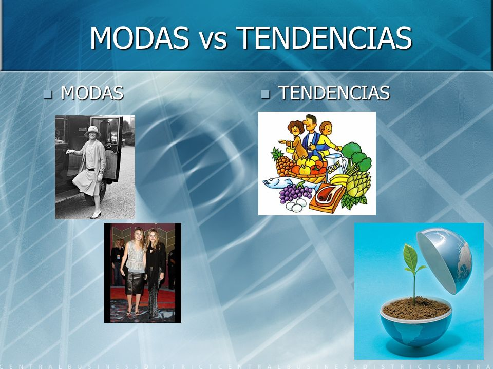 MODAS vs TENDENCIAS MODAS MODAS TENDENCIAS