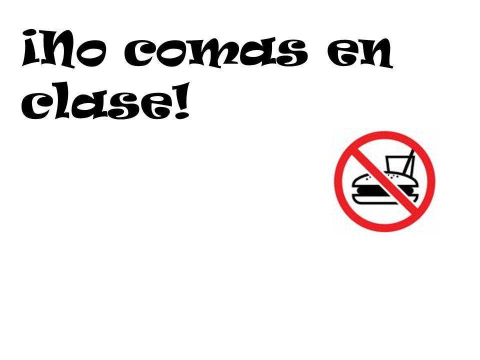 ¡El uso de las celulares está prohibido!