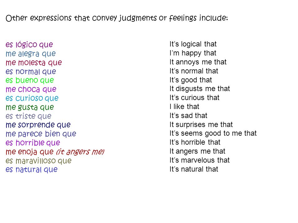 3.Use the present perfect subjunctive (el presente perfecto del subjuntivo) to express an emotion, judgment, doubt, or hope about something that has happened.