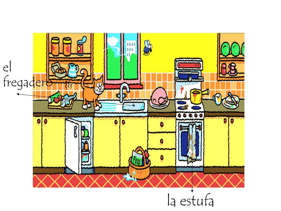 el fregadero la estufa