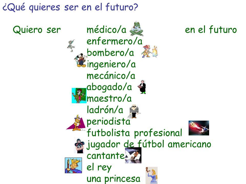 ¿Qué quieres ser en el futuro.