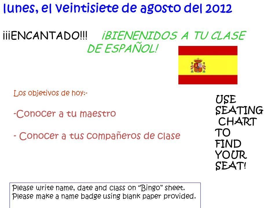 ¡¡¡ENCANTADO!!. ¡BIENENIDOS A TU CLASE DE ESPAÑOL.