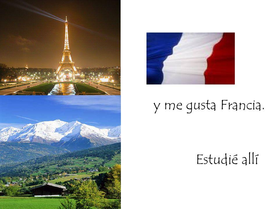 y me gusta Francia. Estudié allí