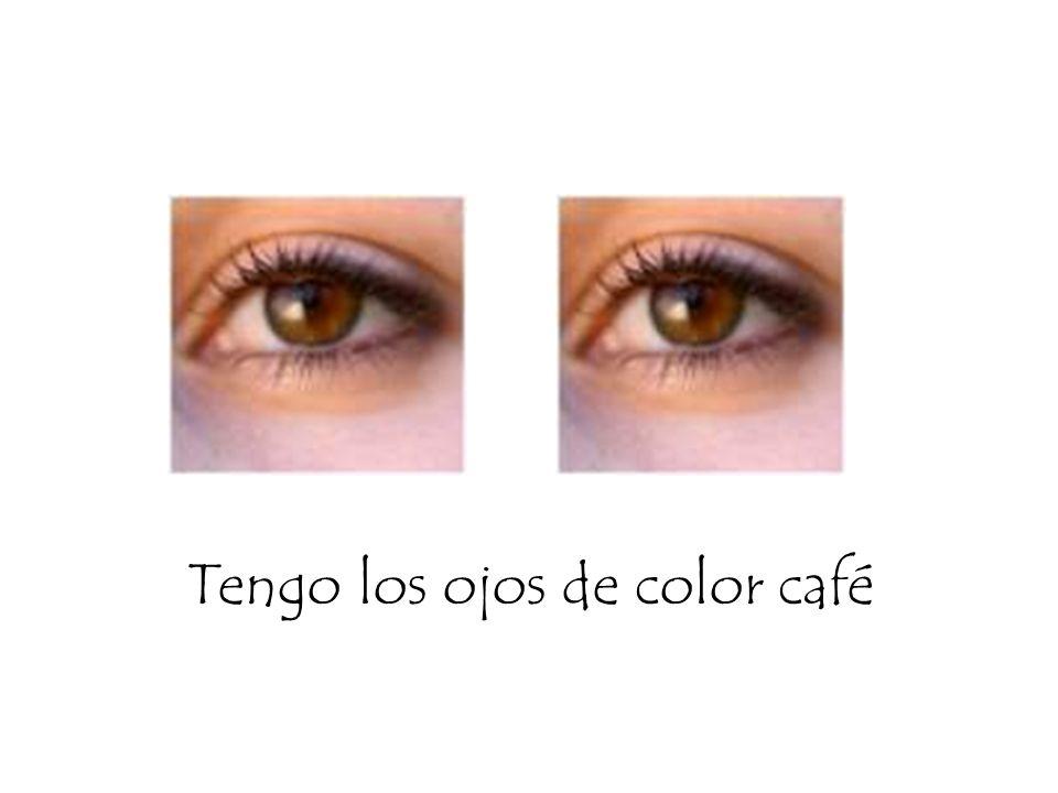 Tengo los ojos de color café