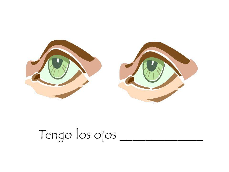 Tengo los ojos _____________