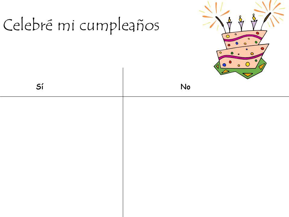 Celebré mi cumpleaños SíNo
