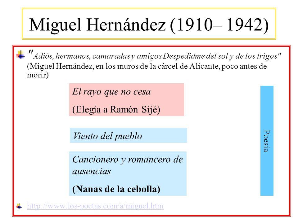 Miguel Hernández (1910– 1942)