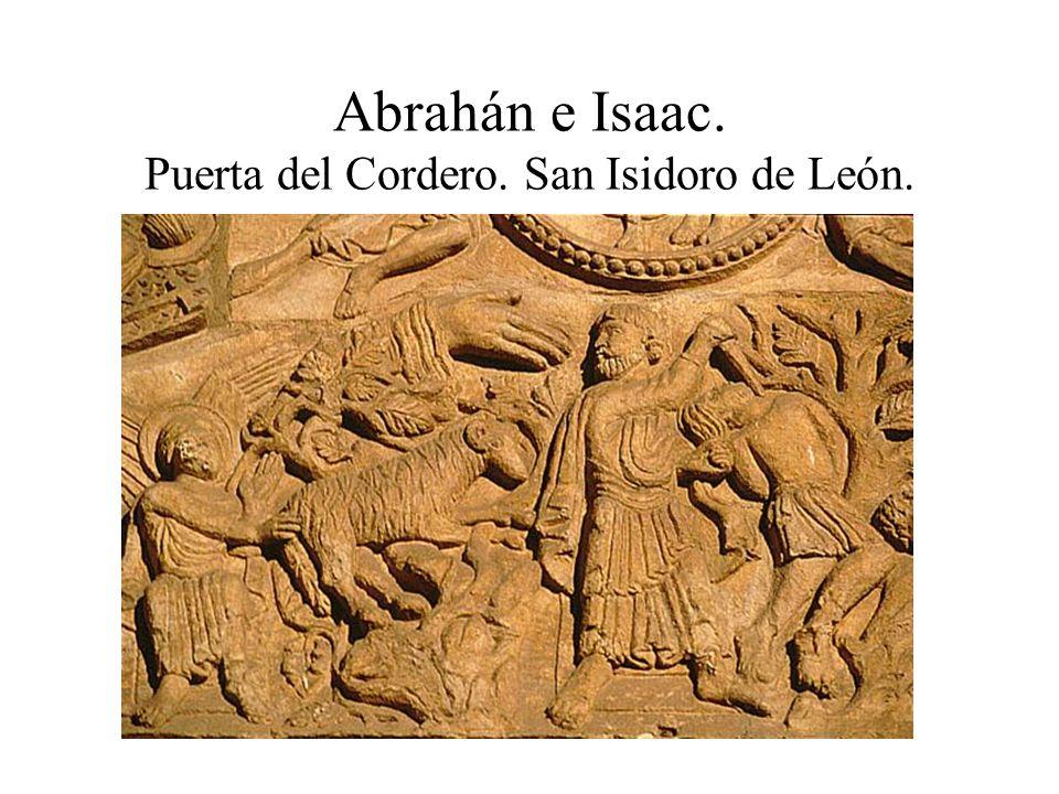 Abrahán e Isaac. Puerta del Cordero. San Isidoro de León.